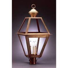 Northeast Lantern Boston 1 Light Lantern Head Finish: Dark Brass, Shade Type: Clear