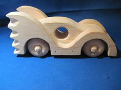"Homemade Bat Winged Wooden Car ""Batmobile"""