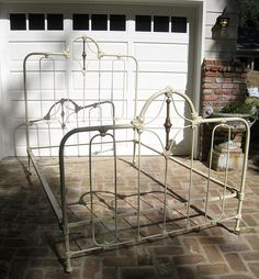 antique wrought iron bed frame flickr photo sharing - Cast Iron Bed Frame