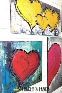 DIY your own heart wall art. You can learn how to paint this Textured Canvas with an impasto style finish in Tracey's Fancy workshop . see more of her heart art as inspiration Textured Canvas Art, Diy Canvas Art, Diy Wall Art, Canvas Artwork, Painting Canvas, Diy Painting, Diy Art, Heart Artwork, Heart Wall Art