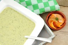 Courgettesoep met zalmsnippers-Voedzaam & Snel