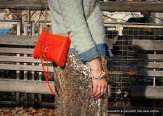 Rebecca Minkoff Mini MAC Bag, Gold Sequin Skirt