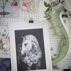Faunascapes Flower Portraits - Andalusian Horse Art Print by WhatWeDo Copehagen