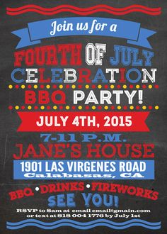 4th of july email invitations