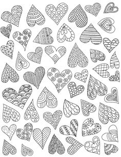 Lovely Valentines Day Crafts - Doodle Hearts and Coronary heart Memento Rocks Coloring Web page Heart Coloring Pages, Colouring Pages, Adult Coloring Pages, Coloring Books, Pattern Coloring Pages, Zentangle Drawings, Doodle Drawings, Easy Drawings, Doodle Art