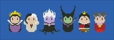 Disney Evil Villains parody Cross stitch PDF by cloudsfactory
