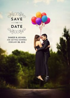 on cloud 9! <3 this 'Up' themed save the date for sameer and jigyasa. #Indianwedding #weddingphotography #saveTheDate | Curated by #WittyVows - The ultimate guide for the Indian Bride | www.wittyvows.com