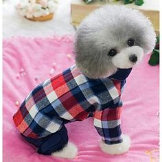 Leisure Cowboy Plaid Cotton Stitching Shirts for Dogs Cats (Assorted Colors, Sizes) – USD $ 23.59