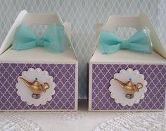 Favorecen de cajas jazmín, Aladdin cajas, cajas, cajas del Favor del cumpleaños, favores de partido jazmín, Aladdin partido favores, favores partido Qty 10