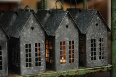 Candle holders or lights? Saltbox Houses, Putz Houses, Christmas Bedroom, Christmas Home, Tin House, I Love House, Georgia Homes, Chandeliers, Wooden Diy