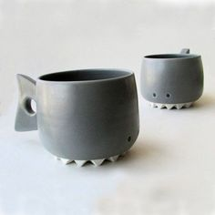 Shark Mug - Animal Mugs - Handmade Porcelain Cups | Small for Big
