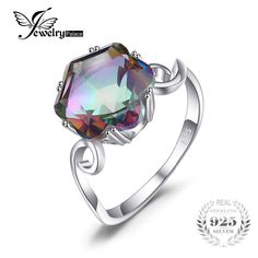 3.2ct Genuine Rainbow Fire Mystic Topaz Ring Solid 925 Sterling Silver Jewelry Best Gift For Women Fine JewelryExtraBeautiful.co.za3.2ct Genuine Rainbow Fire Mystic Topaz Ring Solid 925 Sterling Silver Jewelry Best Gift For Women Fine Jewelry Price: 9.74 & FREE Shipping #fashion|#accessories|#plussize|#extrabeautiful