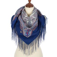 FREE SHIPPING. Russian shawls and scarves store. Russian shawl Souvenir 1659-14. Traditional Russian clothing from Pavlovo Posad.