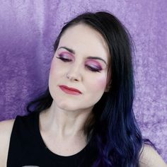 Moonslice Beauty Moon Magic Look - Purple makeup inspiration from indie beauty company Moonslice! Its hard to beat an all-inclusive purple palette!