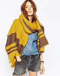 ASOS – Oversize-Schal mit Streifen
