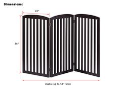 PAWLAND Wooden Freestanding Foldable Pet Gate for Dogs -- Want additional info? Click on the image.-It is an affiliate link to Amazon.