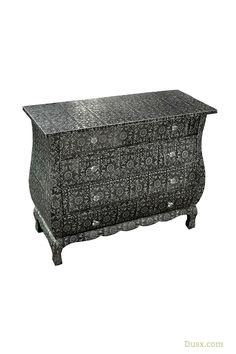 Chaandhi Kar Blackened Silver Metal Embossed 4-Drawer Chest of Drawers : For sale at www.DUSX.com