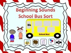 Students will love matching beginning sound cards as they place them on the windows of these adorable school buses. All 26 letters are represented with 132 sound cards. You can use these throughout the year as you introduce new sounds. Several school bus themed recording sheets are also available. Enjoy!!