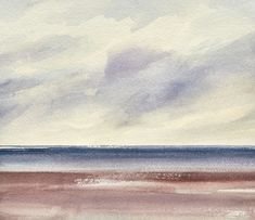 Clouds over the shore original watercolour painting by Timothy Gent, 2021. Available online now with free UK or worldwide delivery. #art #paintings #buyart #artforsale #buyartonline #britishgallery #britishart #seascapes #coastal #beach #interiordecor Art Paintings For Sale, St Anne, Buy Art Online, Original Art For Sale, Watercolour Painting, Clouds, The Originals, Gallery, Artist