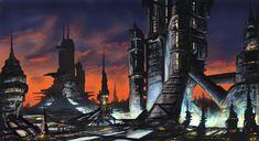 Dusk City scape by derbz
