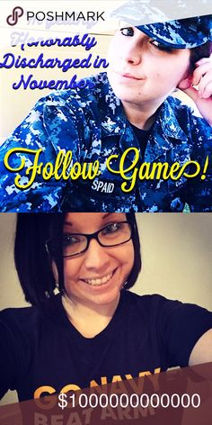 Follow Game! Ok guys most of you don't know I'm in the Navy! I'm getting honorable discharged this November because of a heart condition I have. Anyway, lets all grow together! I have a goal of reaching 50k followers, can you help me? I'll lower the price every Sunday to remind others to follow new players of the follow game! Other