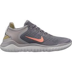 3fbb62ed7ce70 NIKE Women s Free RN 2018 Running Shoe Gunsmoke Crimson Pulse Atmosphere  Grey Size 8