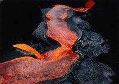 Flowing lava, just like the flow of the beautiful dancers.
