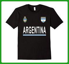 Mens Argentina Soccer national team T-Shirt - Retro Football 3XL Black - Sports shirts (*Amazon Partner-Link)
