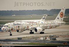 """Der """"RizziBird"""", eine Boeing 757300, wurde vom Künstler"""