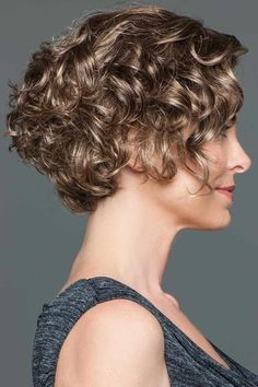 Tousled by Eva Gabor Wigs - Lace Front, Monofilament Part Wig #curlypixiecut Curly Hair With Bangs, Curly Hair Cuts, Short Curly Hair, Short Hair Cuts, Curly Hair Styles, Messy Bob Hairstyles, Haircuts For Curly Hair, Pixie Haircuts, Medium Hairstyles