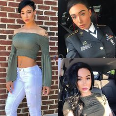 Curves N Combatboots ™️さんはInstagramを利用しています:「@des_strong_ US ARMY My name is Destini. I am from Texas🇨🇱 and I have been serving active duty in the Army for 3 years. I love fitness and…」 Strong Women, Fit Women, Female Army Soldier, Female Marines, Mädchen In Uniform, Look Plus Size, Sexy, Military Girl, Love Fitness