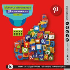 Síguenos en Pinterest y únete a una gran familia de locos por el diseño, creatividad y aptitud positiva. #siguenos #pinterest #unete #sigueme #megusta #like #likes #rrss #socialmedia #redessociales #redes #comparte #amigo #amigos #redes #locosporeldiseño #konceptcreativo #barcelona #bcn #seguidores #pin
