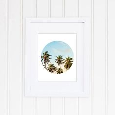 Check out this item in my Etsy shop https://www.etsy.com/listing/253772543/palm-tree-art-beach-photograph-circular