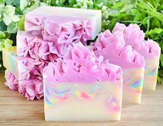Unicorn Soap Rainbow Soap Frosting Soap Birthday by TailoredSoap