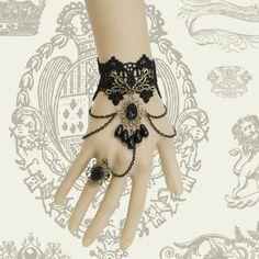 Min.order is $15 (mix order) Diy vintage black lace bracelet fashion wristband wristiest accessories goths royal female jewelry-inCharm Bracelets from Jewelry on Aliexpress.com