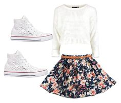 A beauty collage from December 2015 featuring white knit sweater, flower print skirt and rubber toe shoes. Browse and shop related looks. White Knit Sweater, Toe Shoes, Printed Skirts, Flower Prints, Skater Skirt, Converse, Knitting, Polyvore, Sweaters