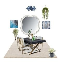 """Sala de jantar"" by megeller on Polyvore featuring interior, interiors, interior design, casa, home decor, interior decorating, ESPRIT, Stanley Furniture, Oliver Gal Artist Co. e LZF"