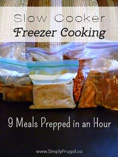With summer wrapping up and the back to school rush beginning, there's no better time to get the dinner time chaos under control. Give this Slow Cooker Freezer cooking plan a try and have 9 meals ready and waiting!