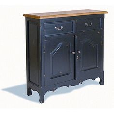 Brocante Narrow Two Door Buffet - furniture