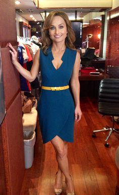 dress: Rachel Zoe  shoes: Sergio Rossi  belt: DVF  earrings & ring: Pomellato