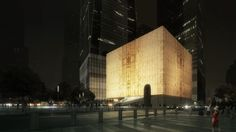 Night rendering of the Ronald O. Perelman Performing Arts Center at the World…