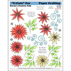 Poinsettia Flourish U-Cut