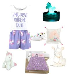 """Unicorn nighttime goals"" by graveygirl on Polyvore featuring Boohoo, Emoji and Smoko"