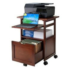 Amazon.com: Winsome Wood Piper Work Cart/Printer Stand with Key board: Kitchen & Dining
