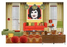 Glamorous Jackie O inspiration! Mid-Century Design for Lumen's Contest.