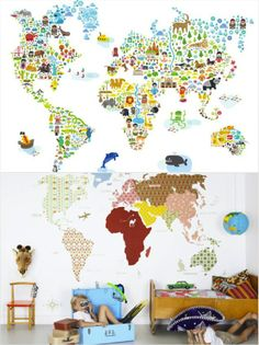 Illusion Collection Trendy Bedroom For Boys Pinterest Children - Map of the world wallpaper for kids