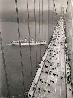 Golden Gate Bridge on Opening Day