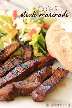 Copycat Cafe Rio Steak Marinade Recipe