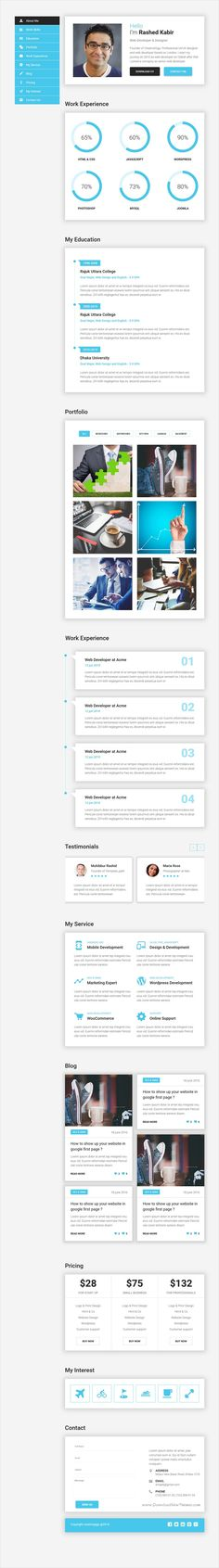 Resume Html Template Ultra  Personal Cvresume & Vcard Template  Template For Cv