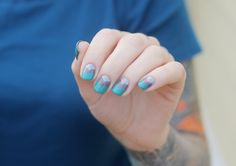 beautiful color combo, and I totally need to buy some of those awesome nail stickers Kaylah is always raving about.